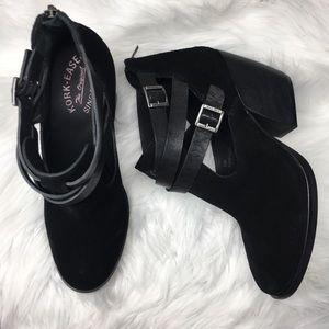 Kork-Ease Stina Black Heeled Booties